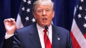 مرشح الحزب الجمهوري للرئاسة الأمريكية دونالد ترامب